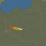 Pogoda. Niszcząca burza liniowa zmierza na południowy-wschód Polski. Grad, silny wiatr i opady deszczu