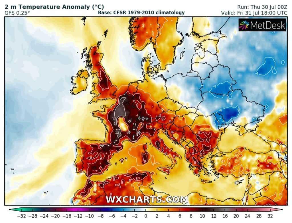 upał w Europie