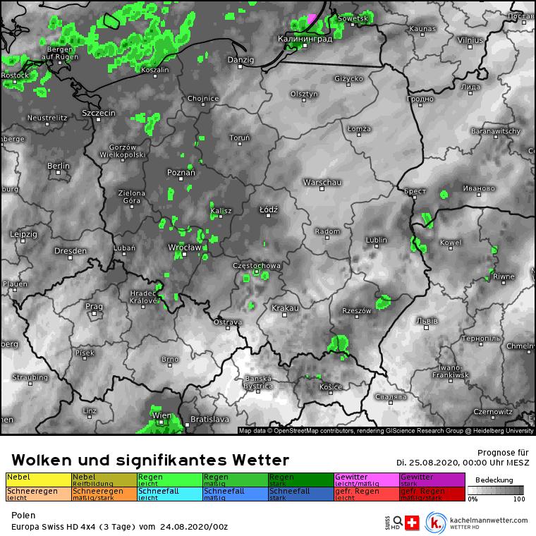 deszcz nad Polską