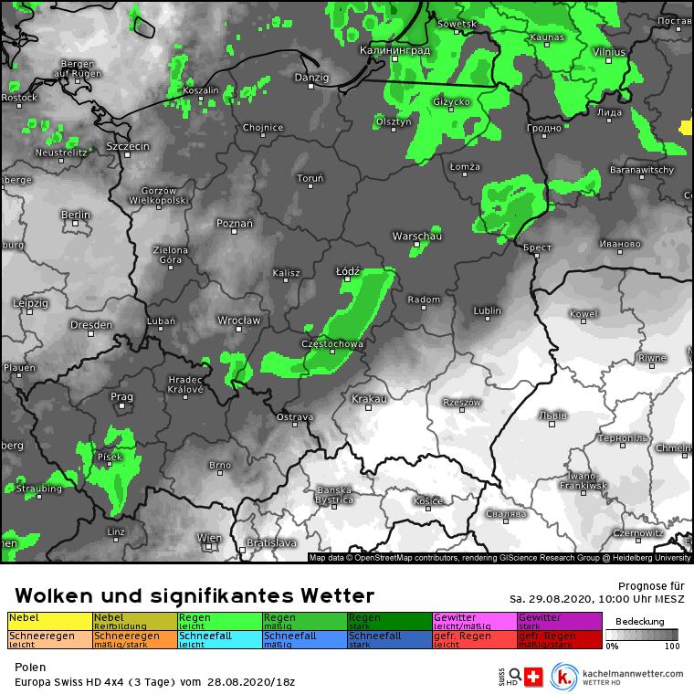 deszcz Polska