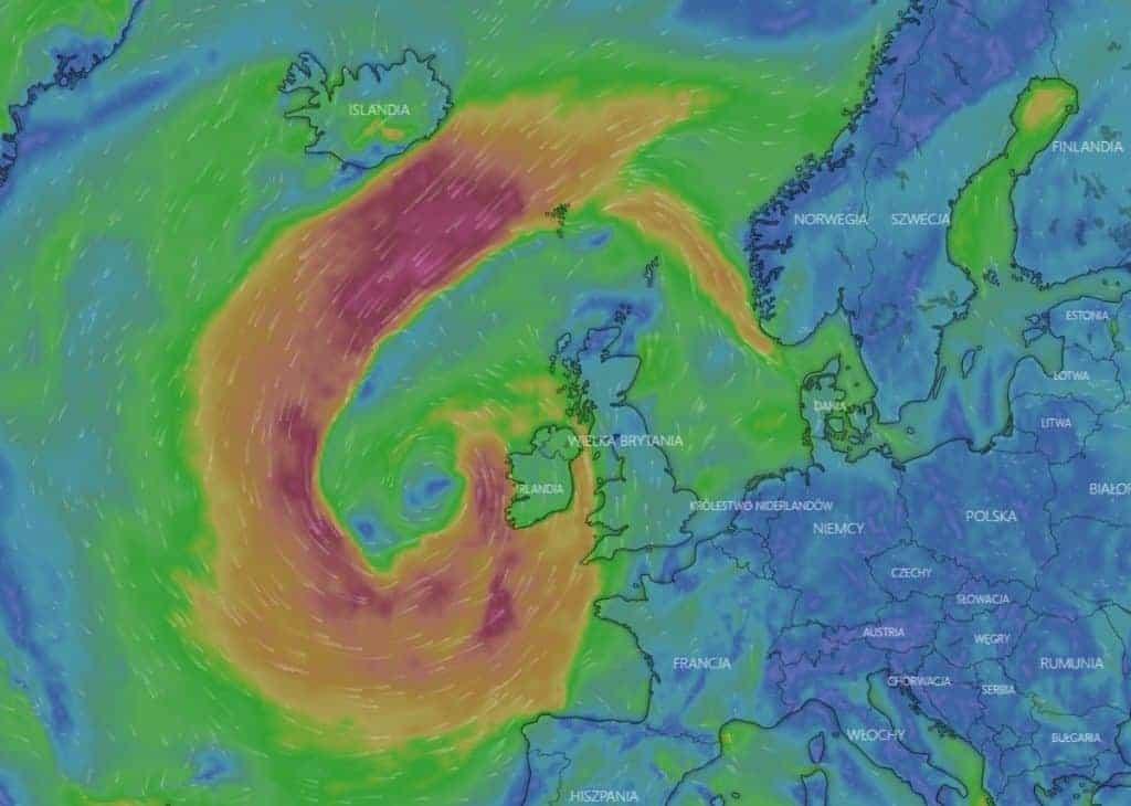 wichura uderzy w europę
