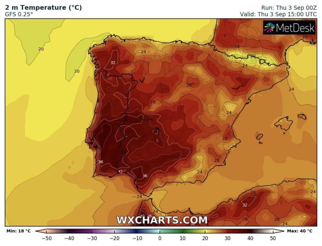 upał Hiszpania