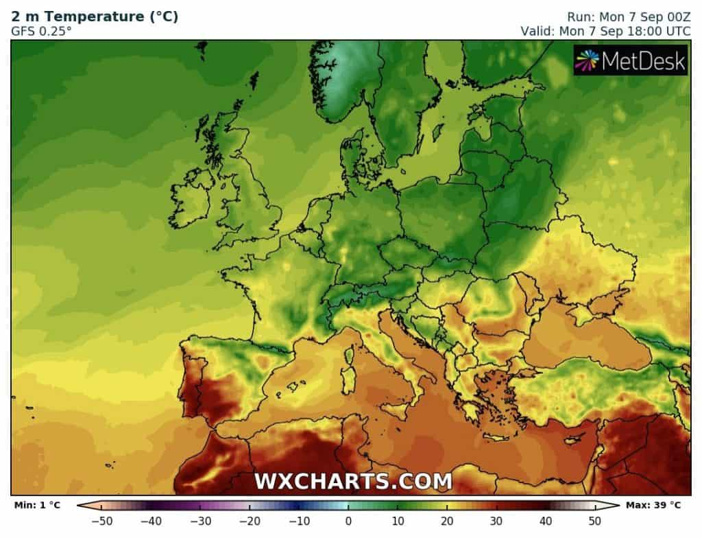 temperatury w Europie
