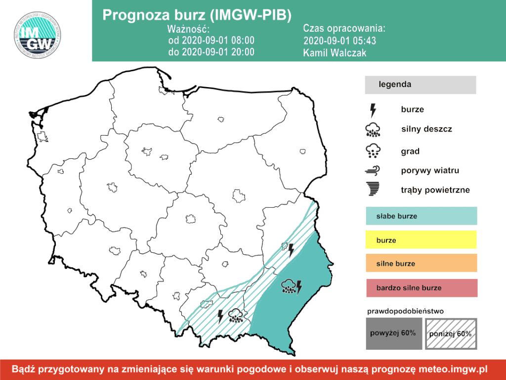 burze w Polsce 1 września