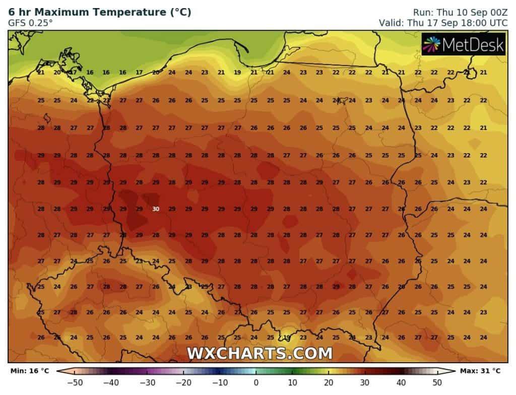 gorące dni w Polsce