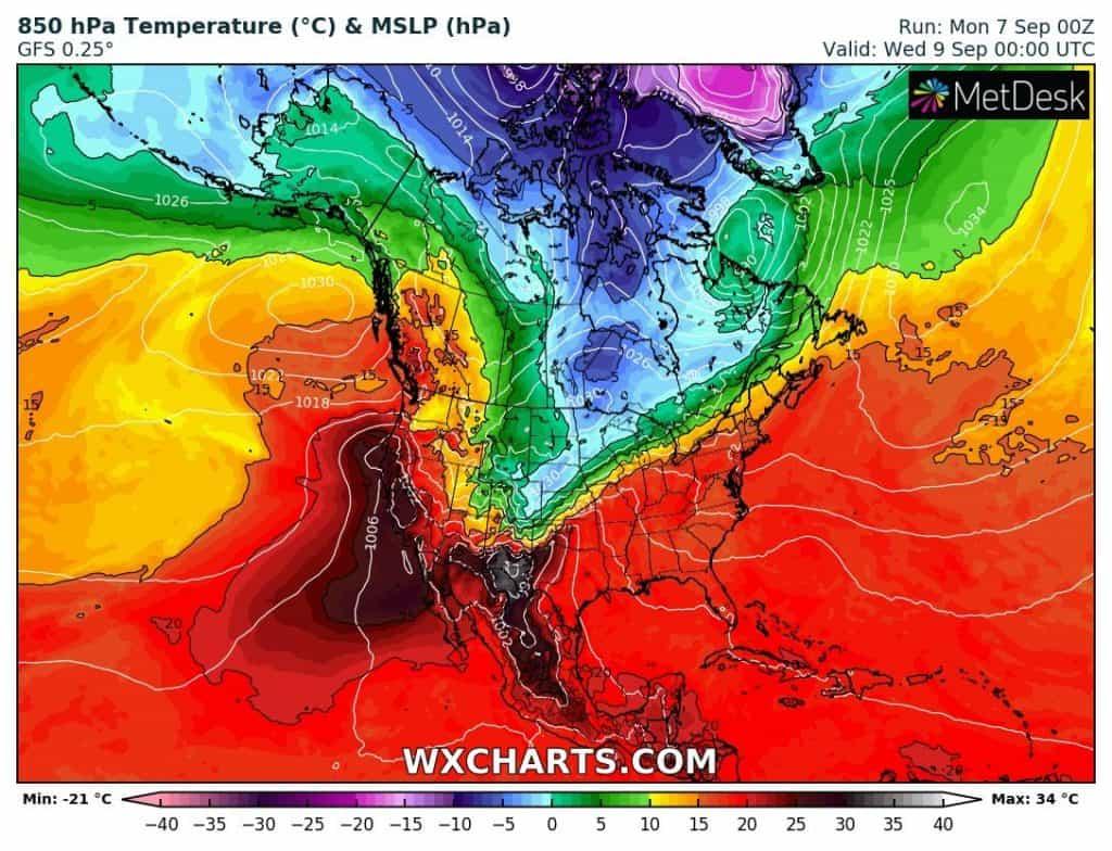 Ochłodzenie w USA