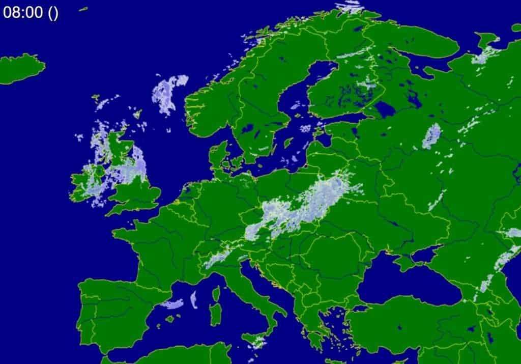Opady w Europie