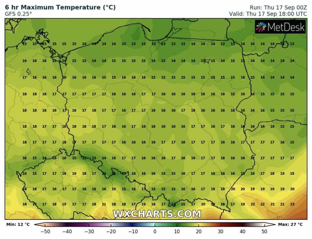 Temperatura w czwartek