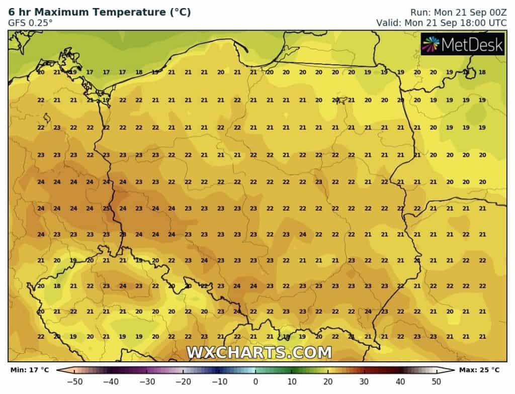 Temperatura poniedziałek