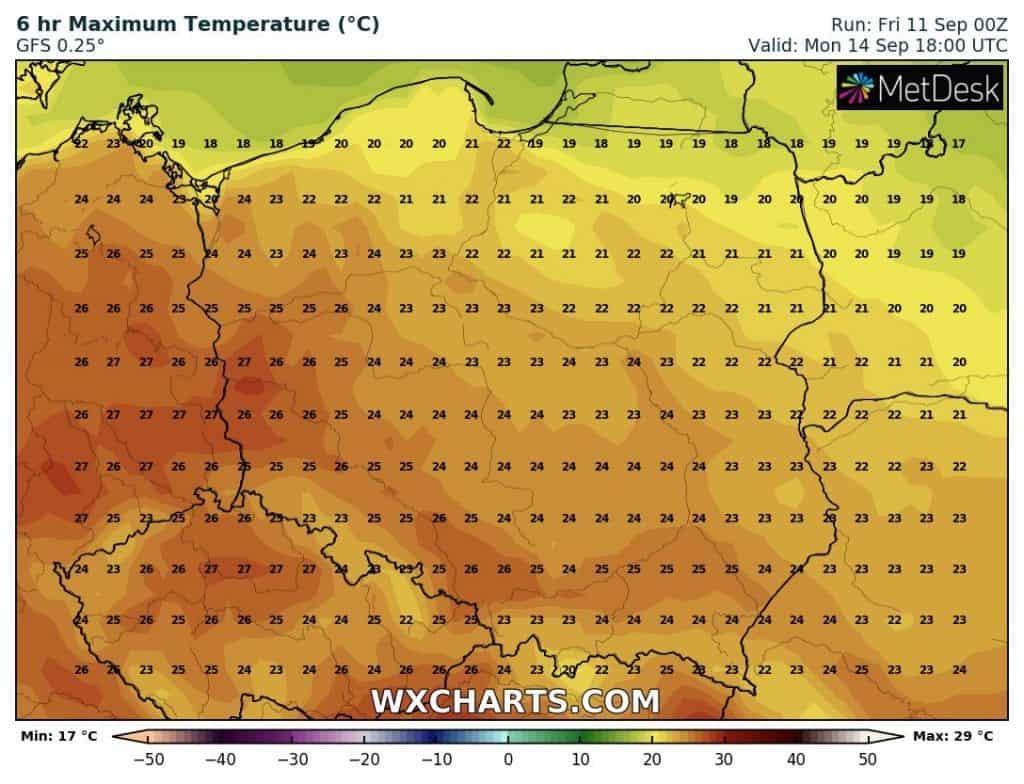 Wysokie temperatury w Polsce