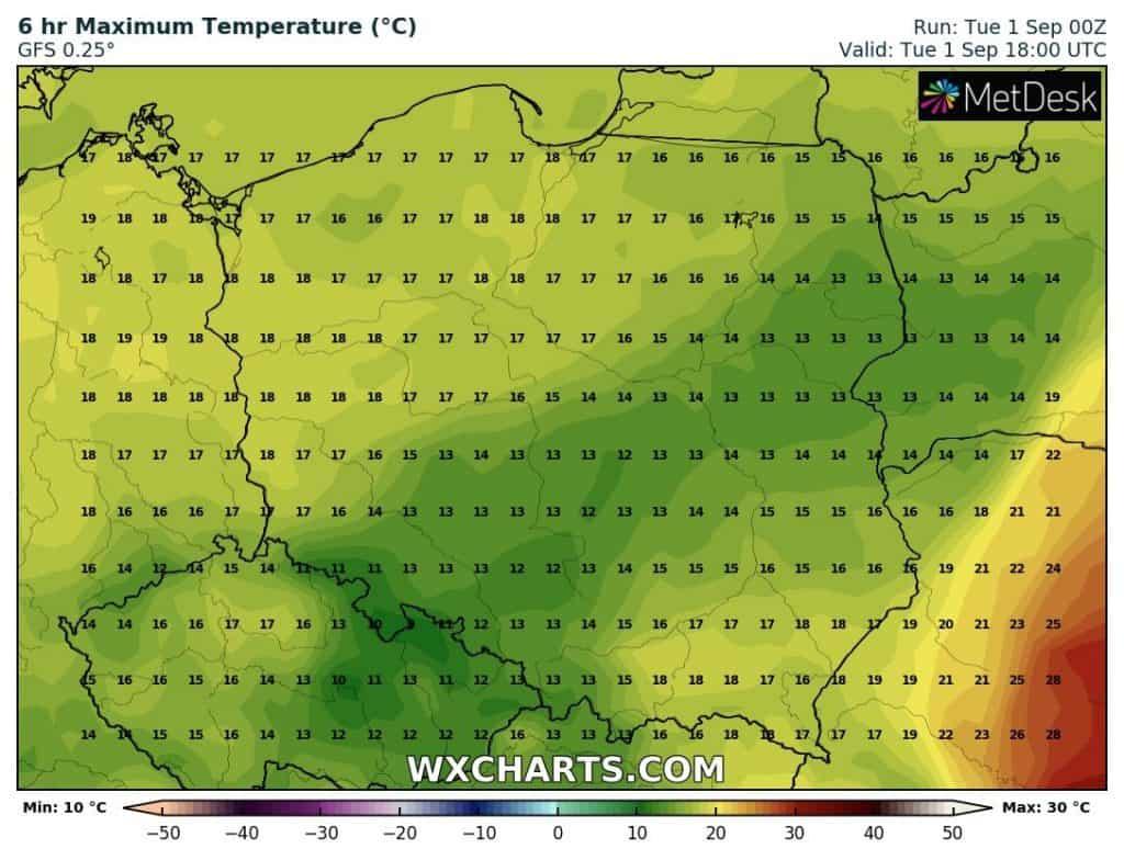 temperatury 1 września
