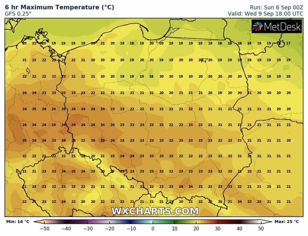 temperatury polska