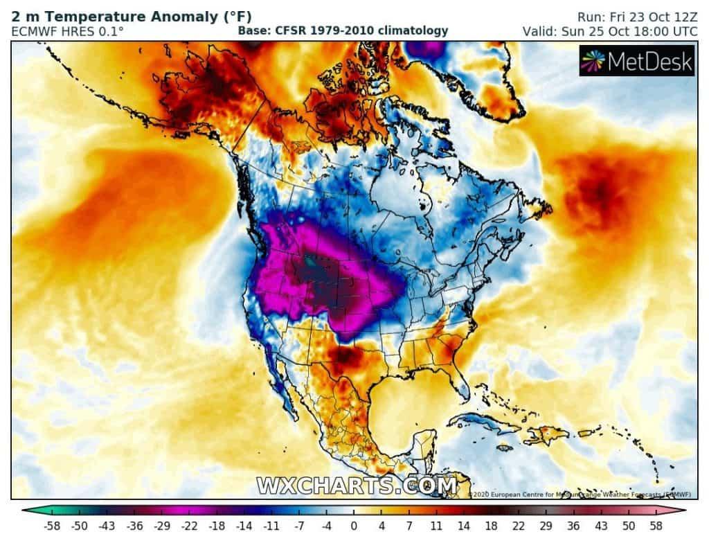 Niskie temperatury USA