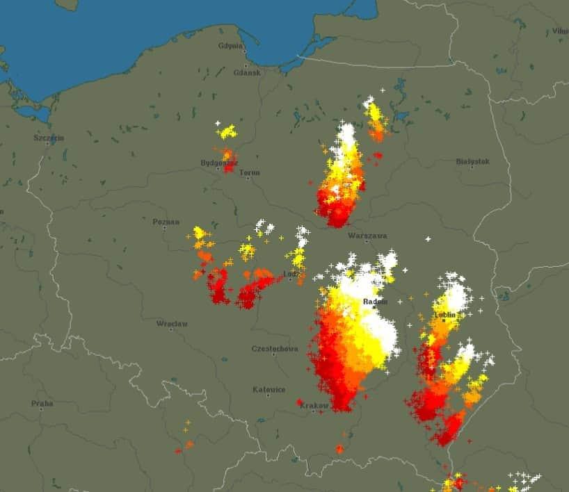 Burze w Polsce 5 października