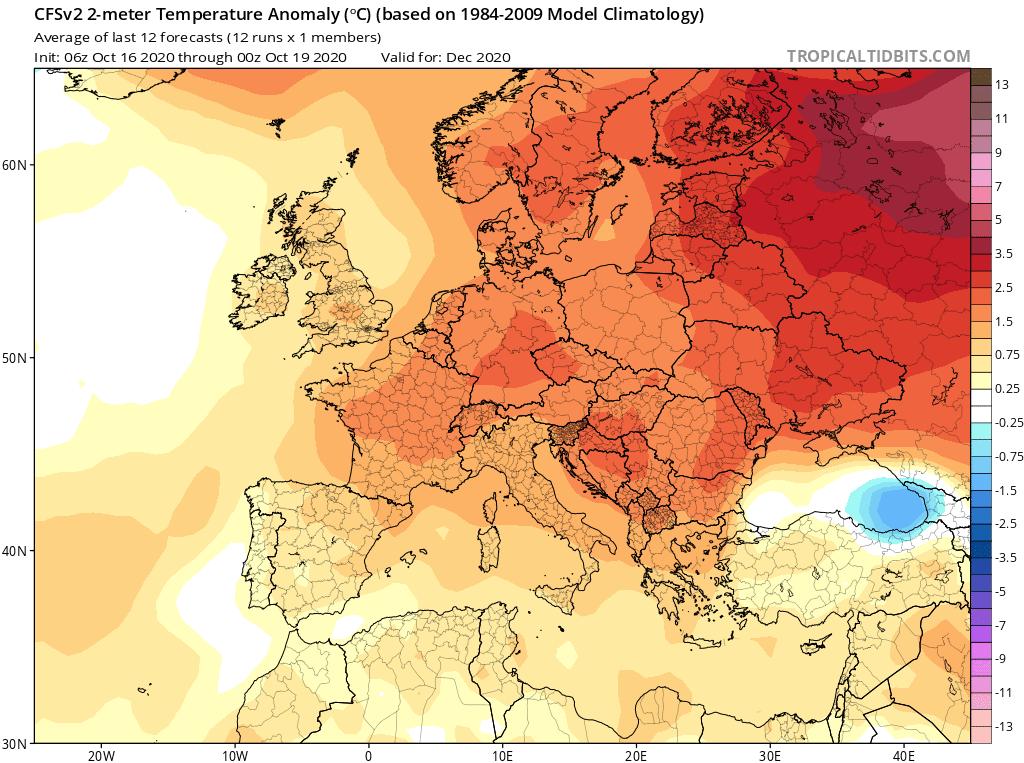 Ciepły grudzień w Polsce. Brak opadów śniegu