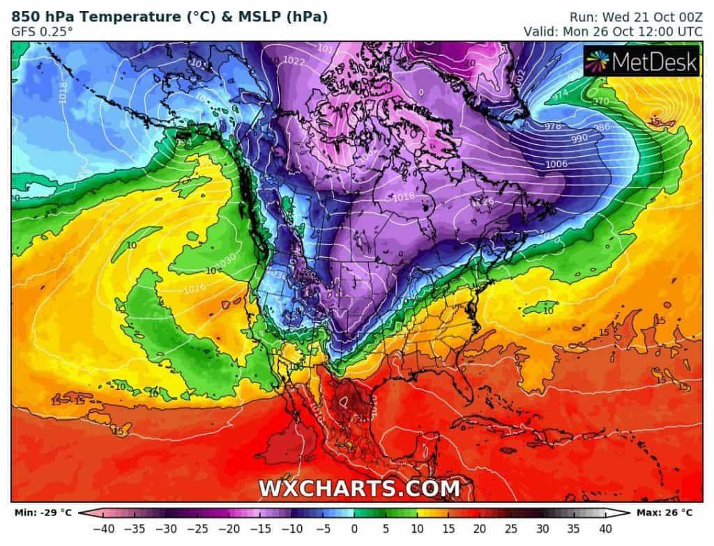 Uderzenie zimy w centralnych USA