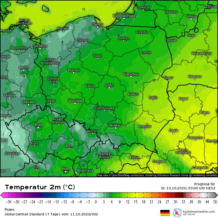 Niskie temperatury w Polsce