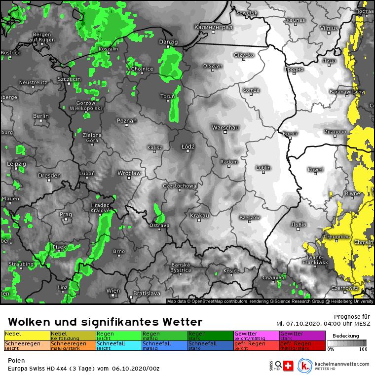 Opady deszczu w Polsce