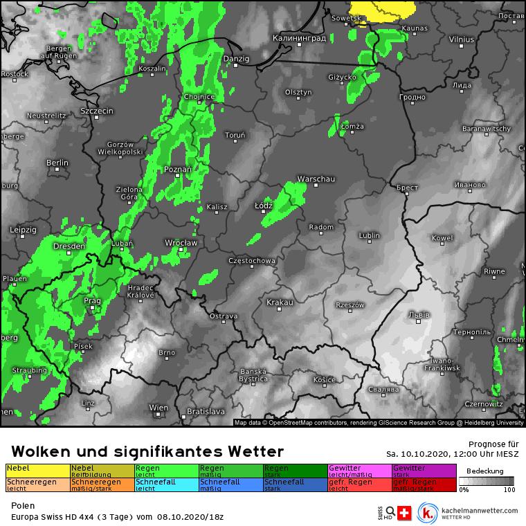 Deszcz w Polsce w sobotę