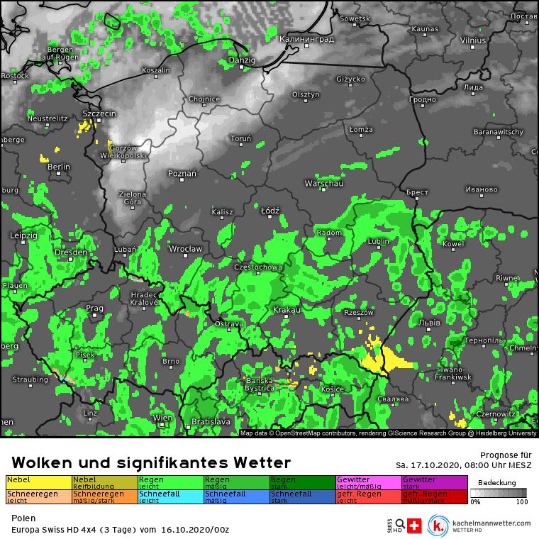 Opady w Polsce w sobotę