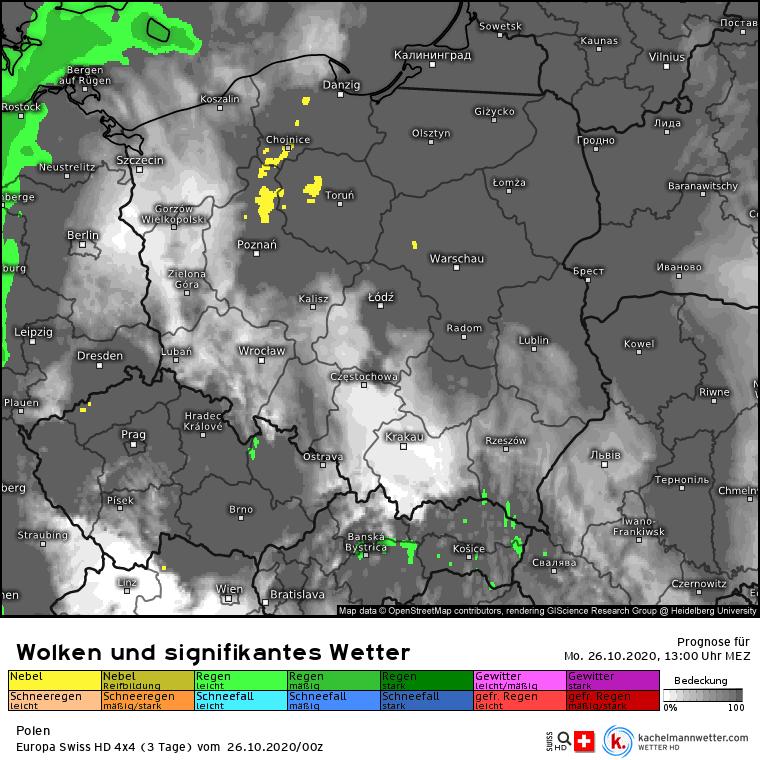 Opady deszczu Polska
