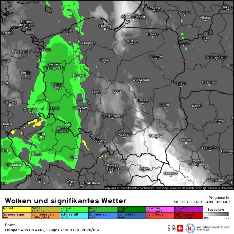 Deszcz w Polsce niedziela
