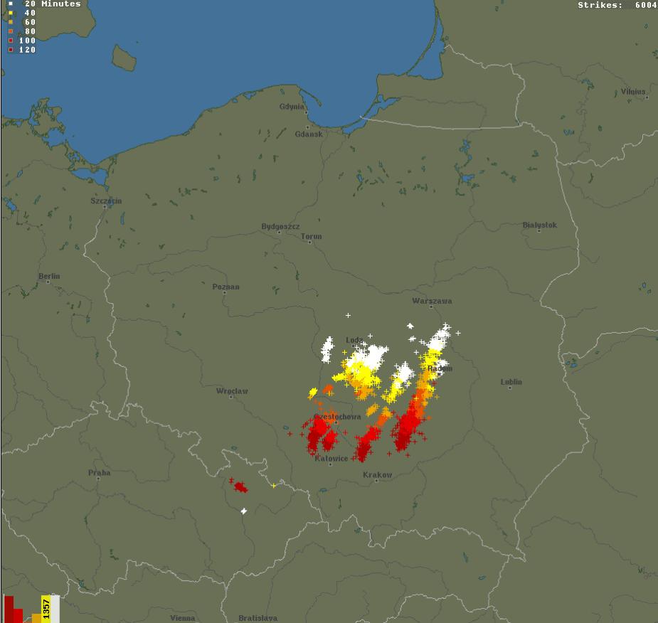 Gwałtowne burze w centrum Polski. Gdzie jest burza, 4 października 2020?