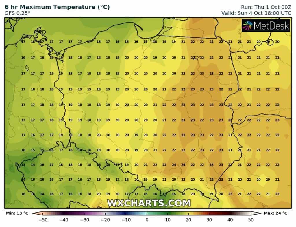 Temperatura w Polsce
