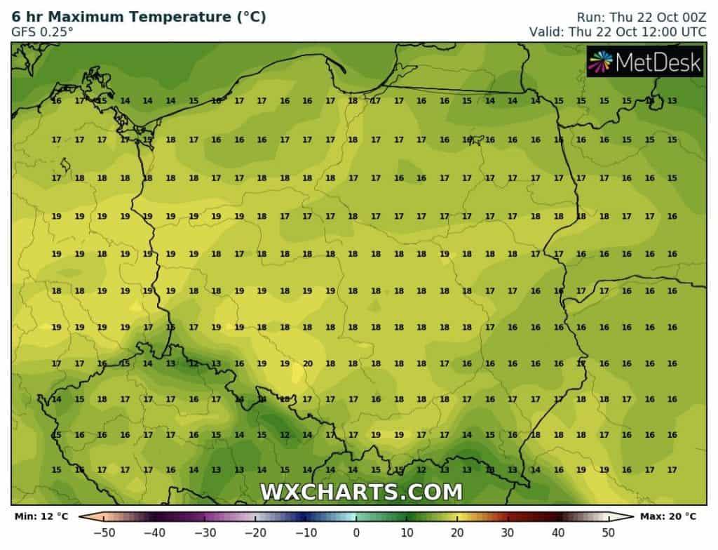 Temperatury w czwartek w Polsce
