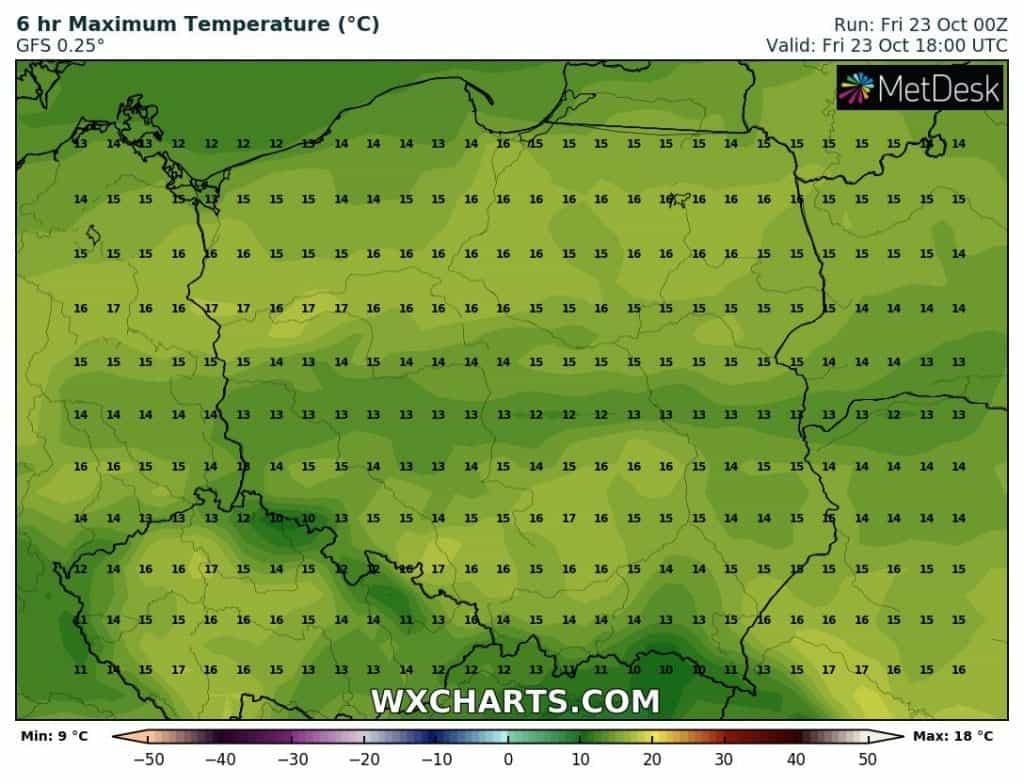 Temperatura w piątek