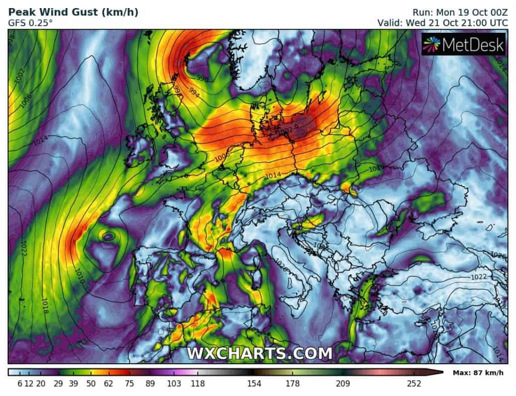 Wiatr w Polsce w środę