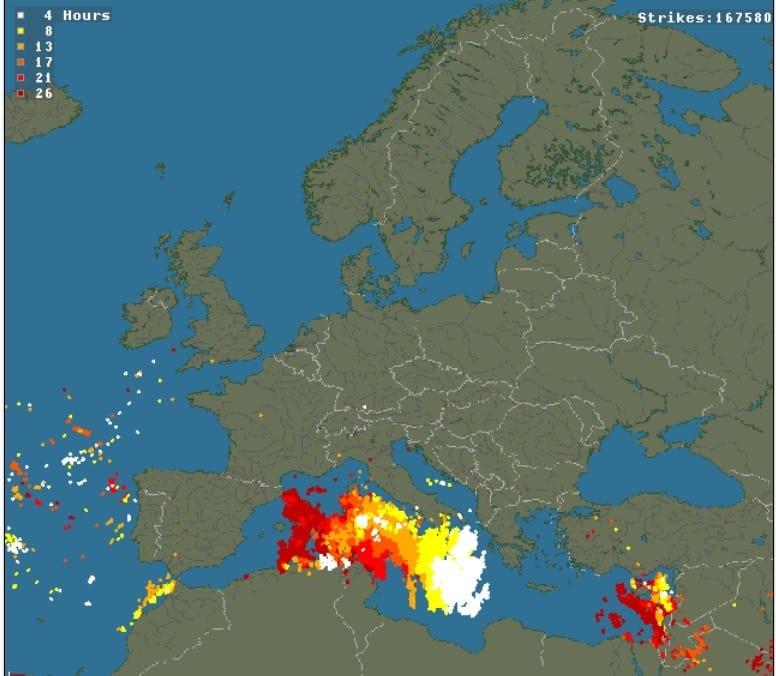 Burze w Europie ostatnia doba
