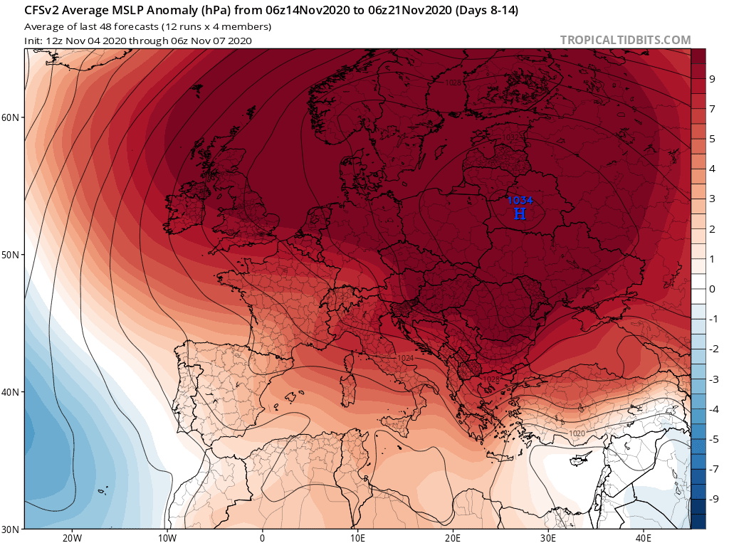 Prognoza na listopad 2020 dla Polski