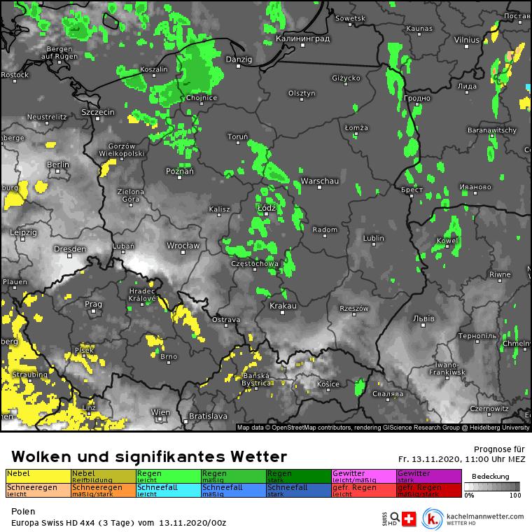 Opady w Polsce w piątek