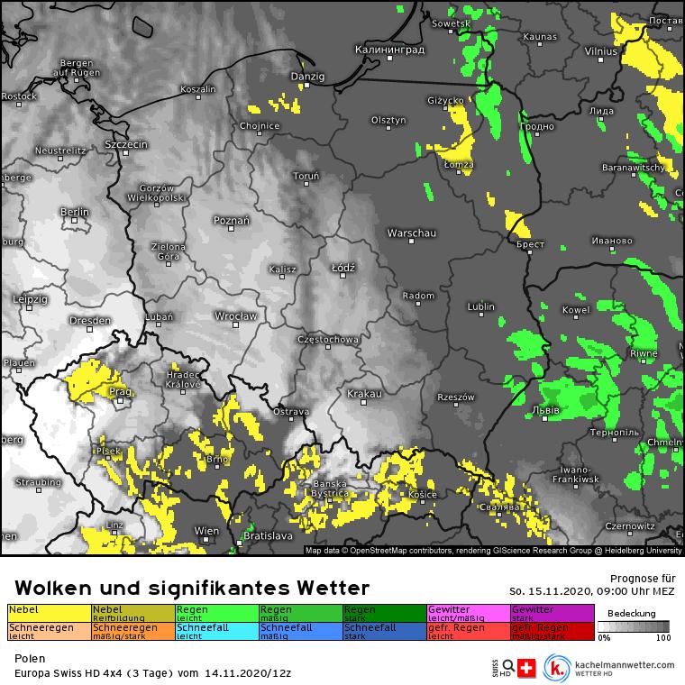 Opady w Polsce w niedzielę