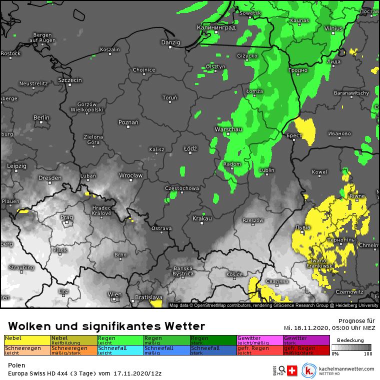 Deszcz w środę w Polsce