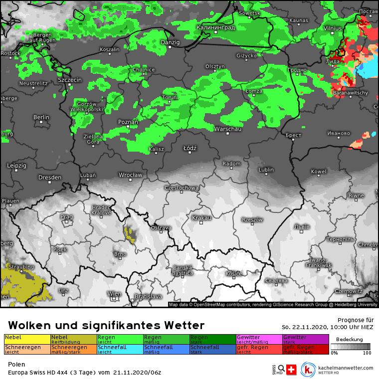 Deszcz w Polsce w niedzielę