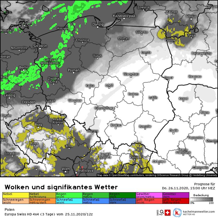 Deszcz w Polsce w czwartek
