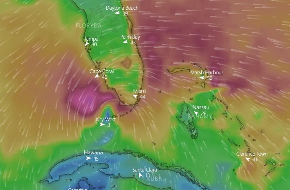 Huragan ETA uderzy dziś we Florydę w USA
