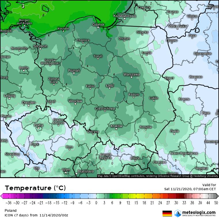 Przymrozki w Polsce