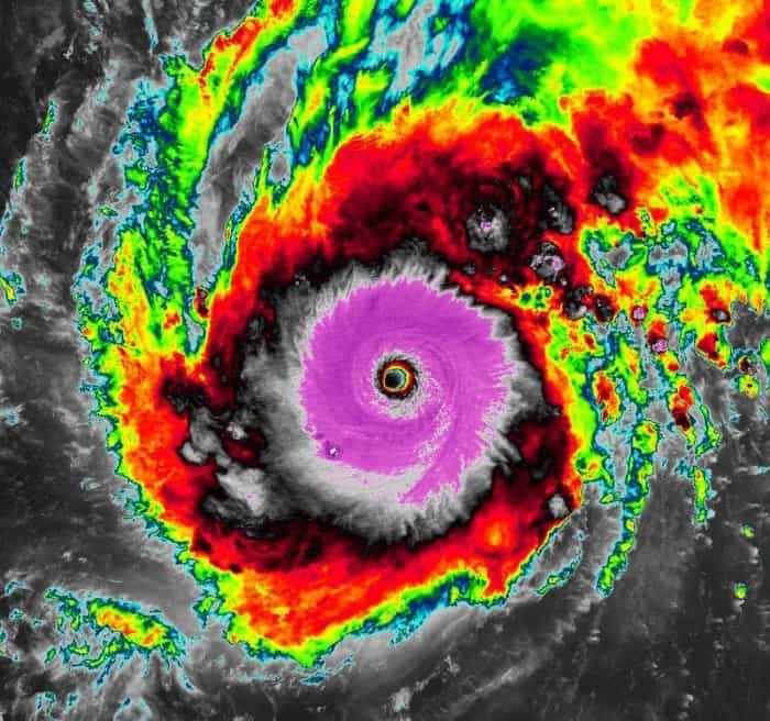 Potężny tajfun Goni