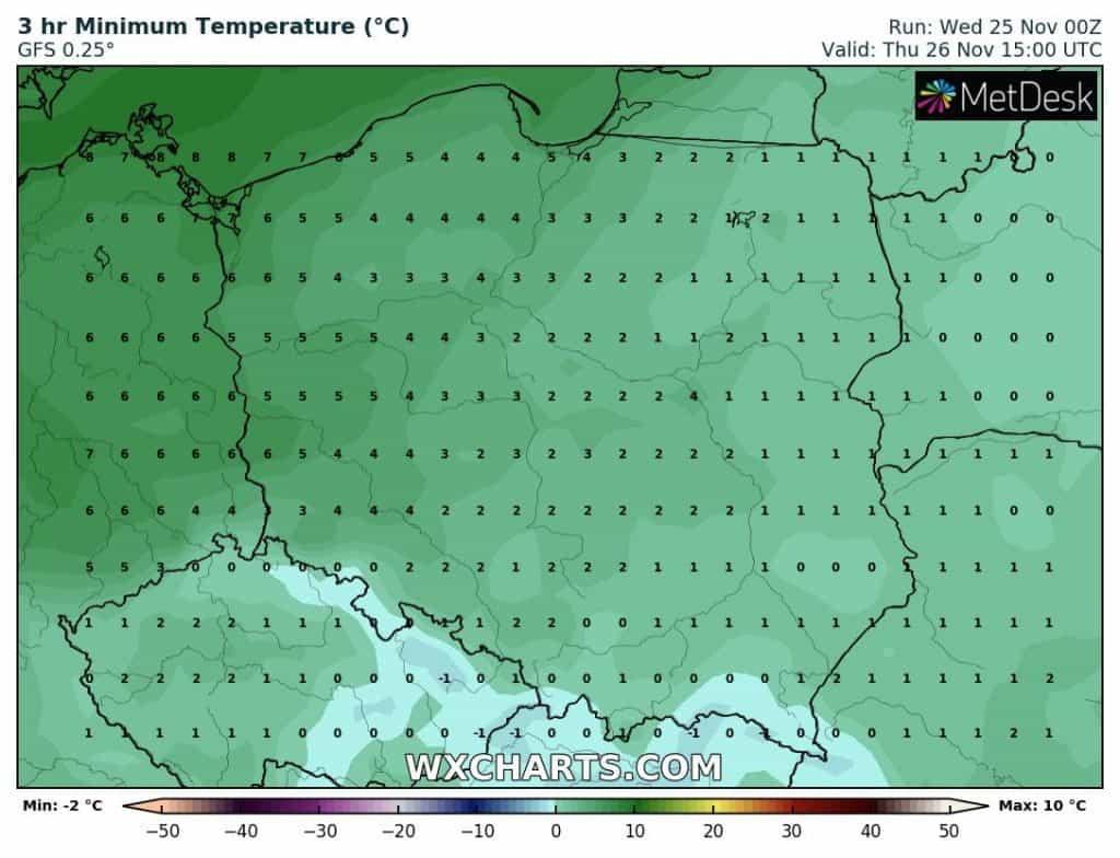 Temperatura czwartek