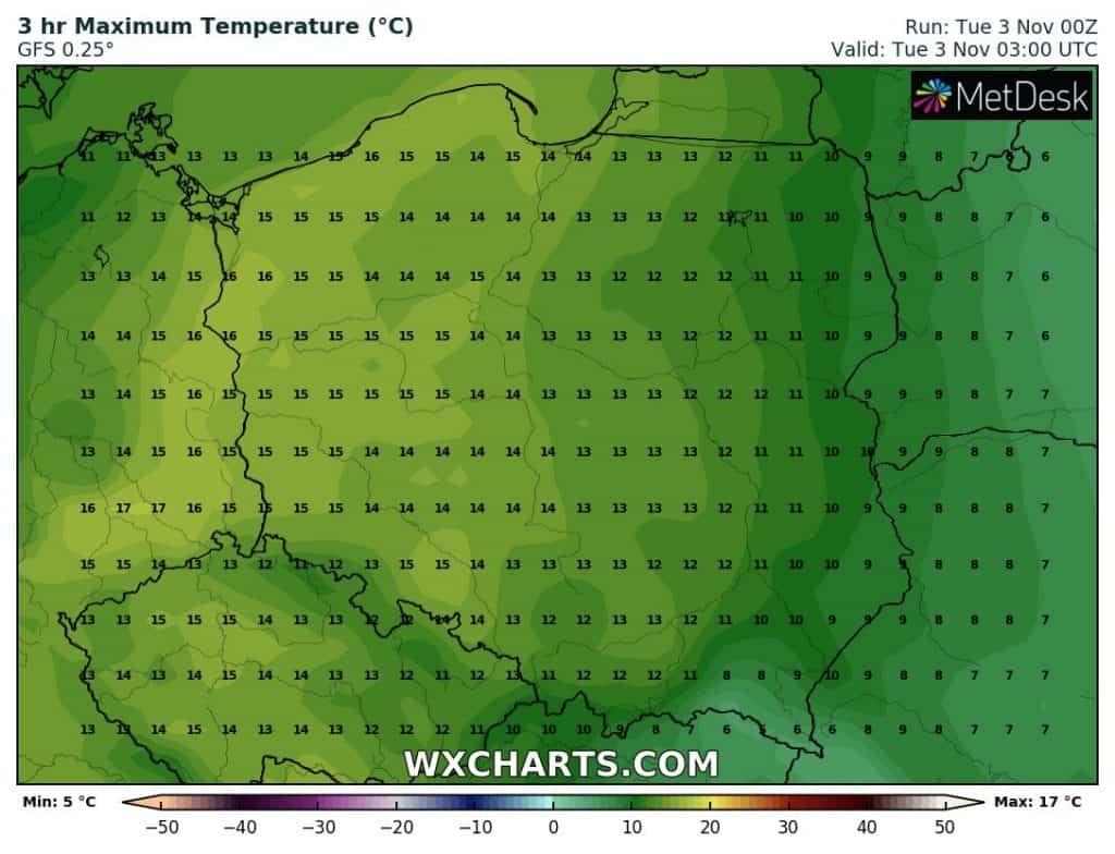 Temperatura wtorek