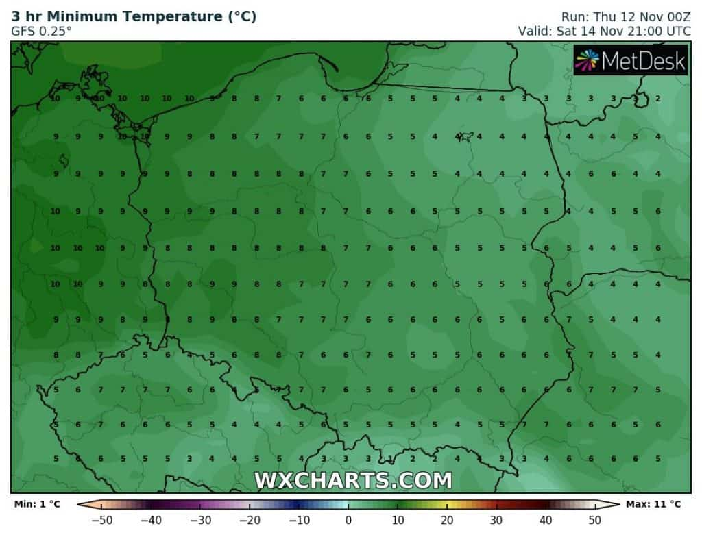 Temperatury w Polsce w weekend
