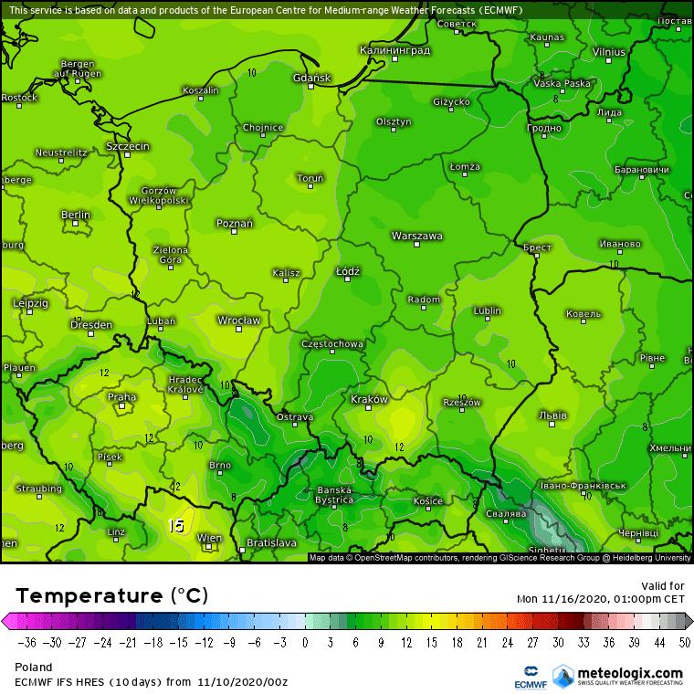 Pogoda na 5 dni. Zgniły wyż, fronty z zachodu oraz przymrozki w Polsce