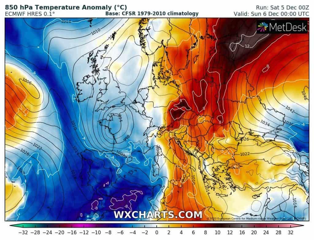 Śnieżyce w Europie