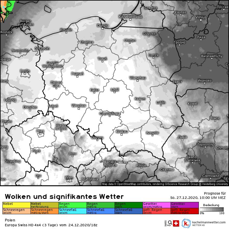 Zachmurzenie w Polsce