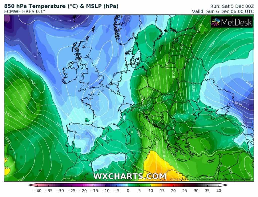 Temperatury Europa