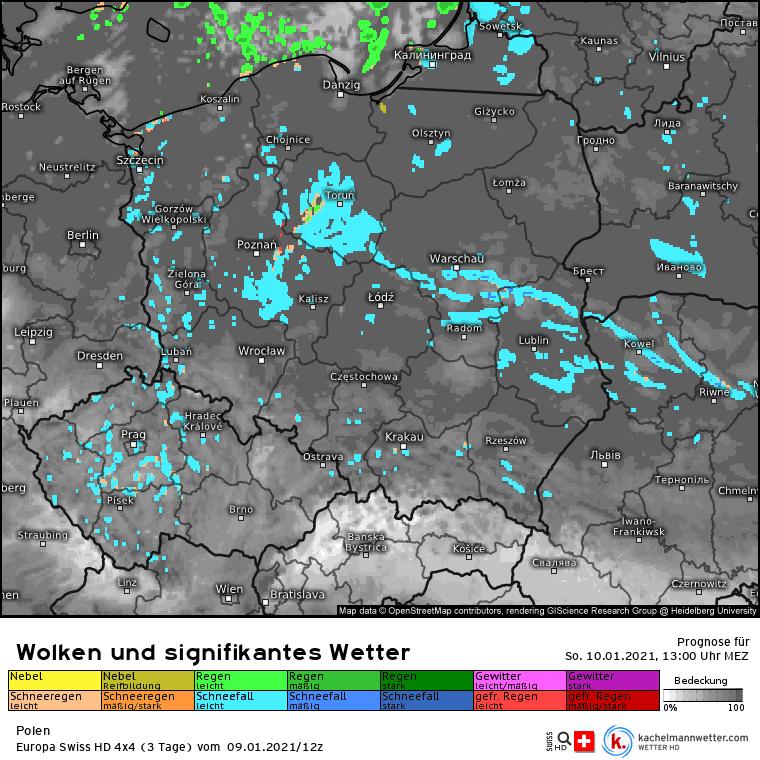Opady w Polsce niedziela