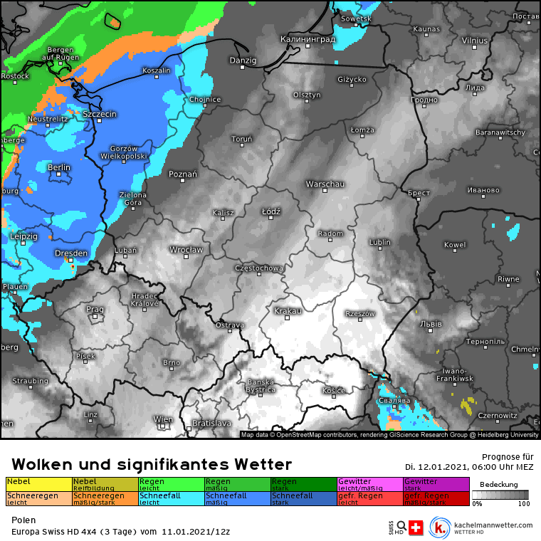 Opady w Polsce